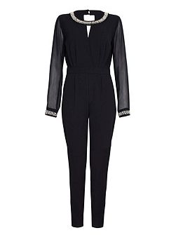 Embellished Long Sleeved Jumpsuit