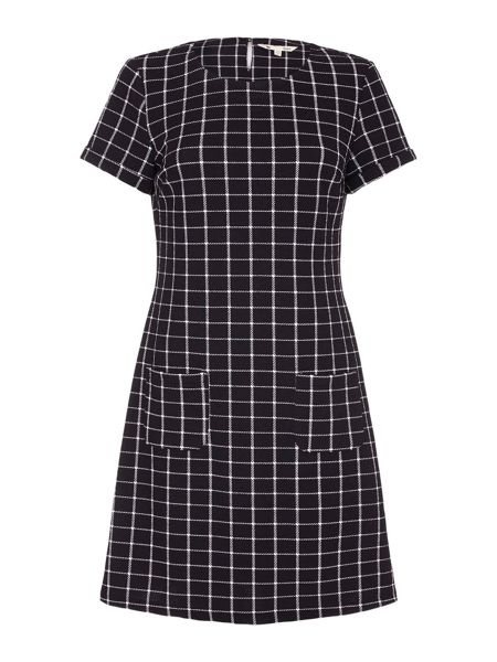 Yumi Black Checked Short Sleeve Dress