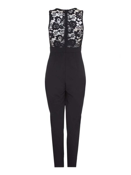 Mela London Black Lace Detail Jumpsuit