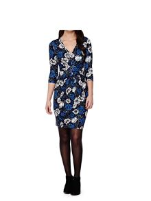 Yumi Blue Flower Print Dress