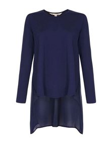 Yumi Plain Long Sleeve Top