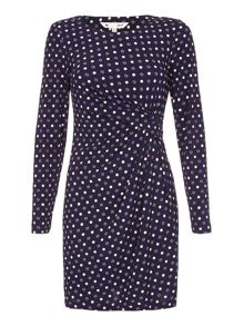 Yumi Spot Print Wrap Dress