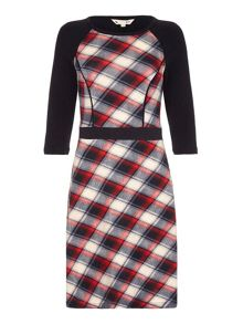 Yumi Red Checked Knit Dress