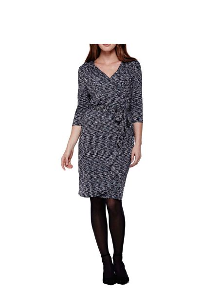 Yumi Marl Belted Wrap Dress