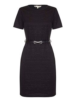 Jersey Wrap Dress With Grey Marl Print