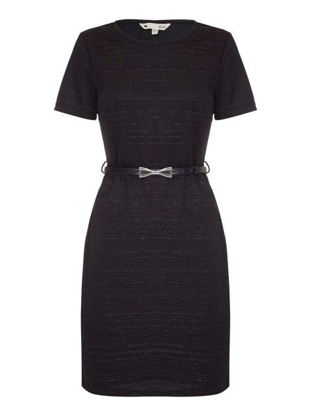 Yumi Jersey Wrap Dress With Grey Marl Print