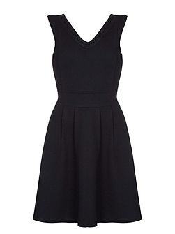 Black Dress With Beaded Neckline