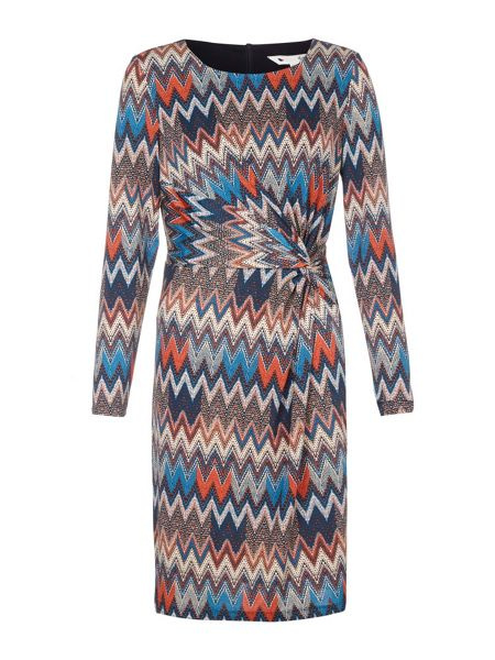 Yumi Printed Jersey Dress With Long Sleeves