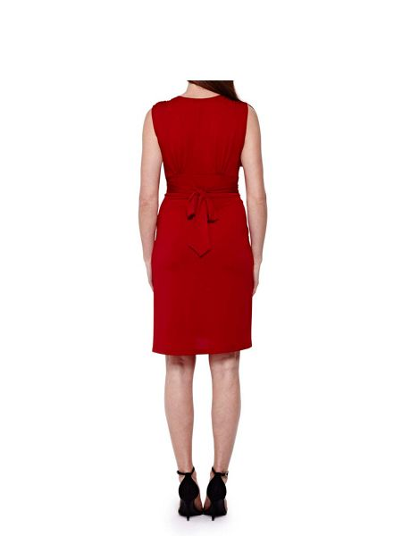 Yumi Red Sleeveless Occasion Dress