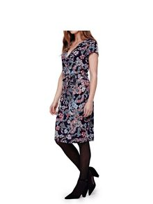 Yumi Jersey Wrap Dress With Floral Paisley Print