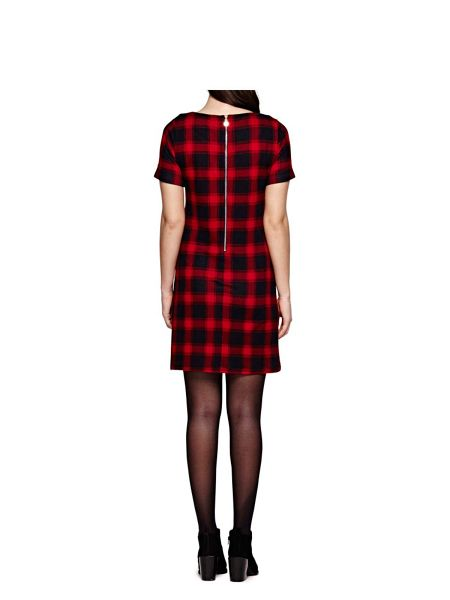 Yumi Checked Shift Dress