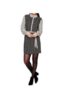 Yumi Bird Print Shirt Dress With Long Sleeves