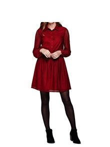 Yumi Lace Long Sleeve Shirt Dress