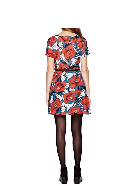 Yumi Floral Print Tea Dress