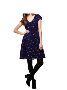 Yumi Bird Print Day Dress