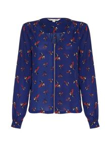 Yumi Bird Printed Blouse