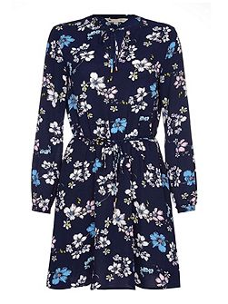 Tie Dress With Floral Print