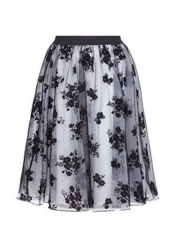 Floral Print Occasion Skirt
