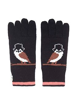 Owl Knitted Gloves
