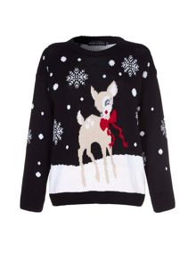Yumi Baby Deer Christmas Jumper