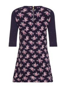 Yumi Girls Flower Knit Dress