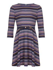 Yumi Girls Striped Belt Dress