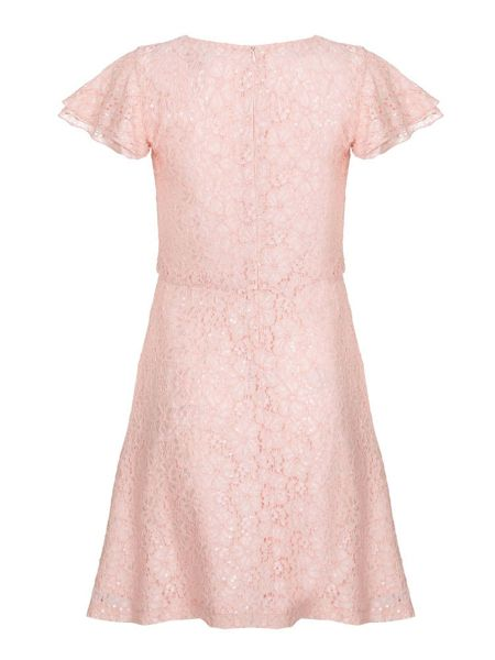 Yumi Girls Sequin Lace Dress