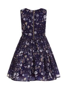 Yumi Girls Floral Bird Print Party Dress