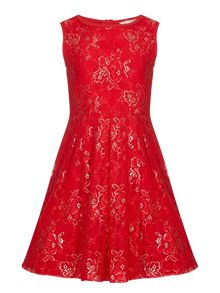 Yumi Girls Floral Lace Party Dress