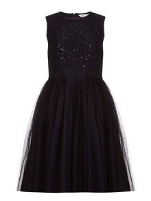 Yumi Girls Sequinned Tutu Dress