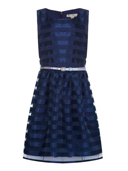 Yumi Girls Striped Organza Dress