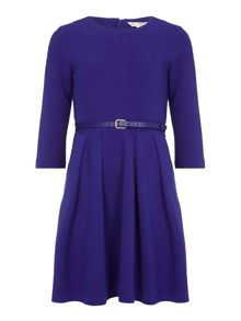 Yumi Girls Blue Dress With Belt