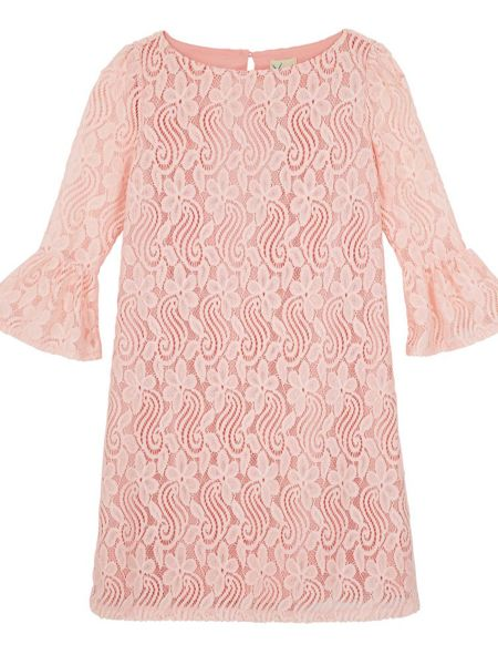 Yumi Girls Lace Flared Sleeve Tunic Dress