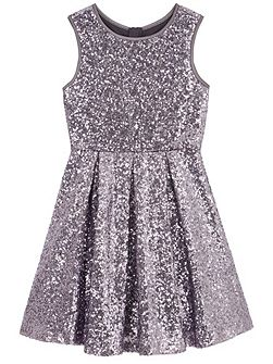 Sequin Pleated Party Dress
