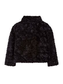 Yumi Girls Rose Faux Fur Jacket