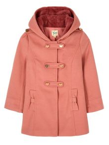 Yumi Girls Heart Duffle Coat