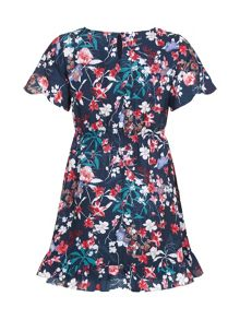 Yumi Girls Botanical Printed Dress