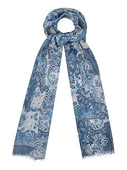 Paisley Printed Cotton Scarf