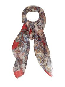 Yumi Paisley Printed Cotton Scarf