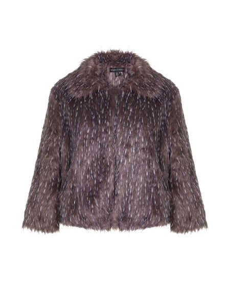 Mela London Fluffy Jacket With Collar