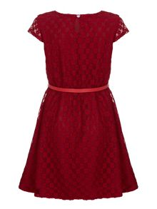 Yumi Girls Lace Dress With Belt