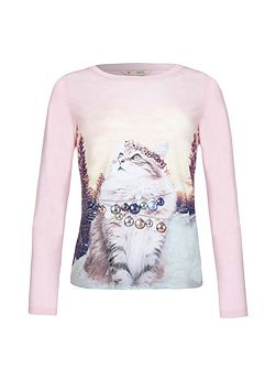 Embellished Cat Top