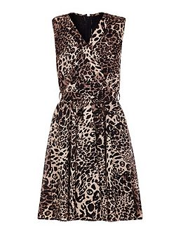 Leopard Printed Day Dress