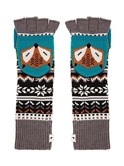 Fox Intarsia Capped Gloves