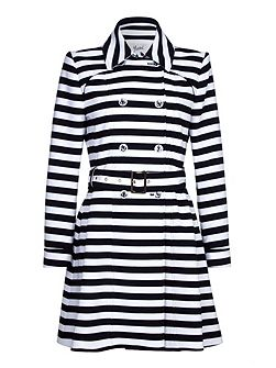 Stripe Trench Coat
