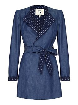 Anchor Wrap Trench Coat
