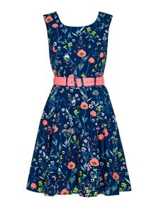 Yumi Floral Belted Day Dress