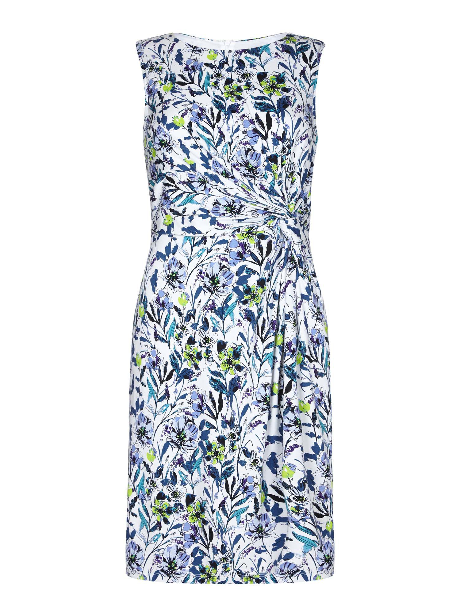 Yumi Floral Gathered Dress, Multi-Coloured