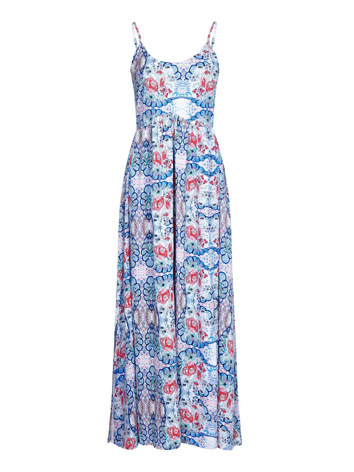 Yumi Peacock Maxi Dress, Blue