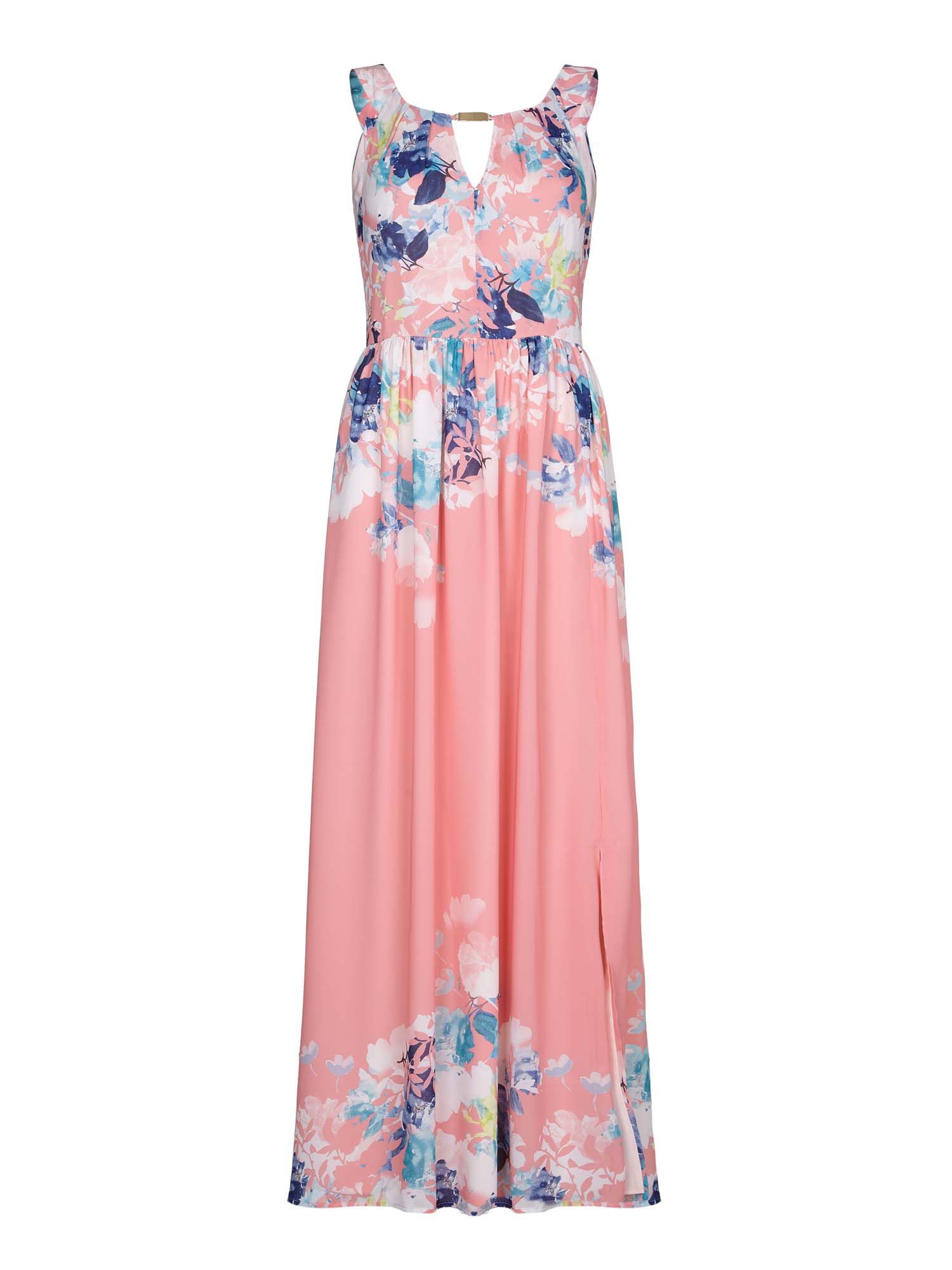 Yumi Floral Maxi Dress, Red